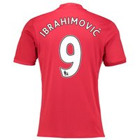 Wholesale 9 Zlatan Ibrahimovic man United home jersey season football home red shirt