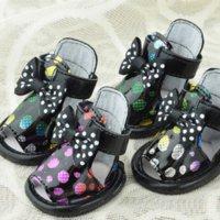 Wholesale 4pcs set Bow Polka Dot Puppy Pet Shoes Summer Pet Sandals Dog Sandals Shoes Cat Shoes Chihuahua Papillon Dachshund
