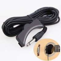 acoustic guitar soundhole pickup - Good Quality Guitar Accessories Classical Acoustic Guitar Amplifier Soundhole Pickup mm Jack M Cable