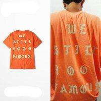 anti wrinkle food - 2016 Summer Collection Cotton Unisex T Shirts Short Sleeve I feel like Pablo We Still Food Famous T Shirts Orange For Men Women
