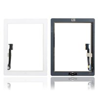 Wholesale Original Grade AAA Touch Screen Glass Panel with Digitizer Buttons Adhesive for iPad mini mini Black and White Free DHL