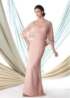Wholesale On Sale Lace Mother of the Bride Dresses Trumpet Mermaid Scoop Neck Floor Length With Applique Beads Cheap Wedding Guest Dresses DL30120