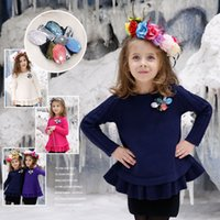 Wholesale Girl Winter Sweater New Years Kids Crystal Warm Sweater Casual Pullover Baby Girls Autumn Outwear