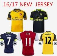Wholesale Top Thailand Quality Arsenal jersey Wilshere Ramsey Ozil WALCOTT ALEXIS16 Sport uniform shirt
