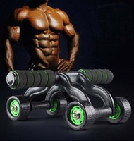 Wholesale Four Wheels Ab Rollers No Noise Quiet Abdominal Muscle Exercise for Gym Fitness Workout Abdomen Exerciser