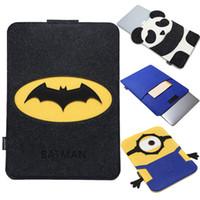 batman laptop sleeve - For Macbook Pro Retina inch Batman Superman Minions Cartoon Organizer Felt Laptop Bag For Macbook Air inch Sleeve Cases