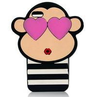 red monkey - New Monkey Phone Case For IPhone Case IPhone Case Iphone Plus Case Phone Protactive Silicone Cartoon Case