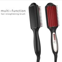 Wholesale 3 in Hair Straightener Brush Anion Straightener Hair Comb Flat Iron Straight Smooth Hair ACEVIVI Anion Straightene