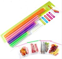 Wholesale 8PCS Set Sizes Seal Stick Storage Chip Bag Fresh Food Snack Clip Grip Coffee