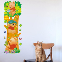 bedroom measurements - Cartoon Winnie the Pooh Animal Measurement of Height DIY Wall Stickers Nursery Kids Room Home Decor Mural Decal