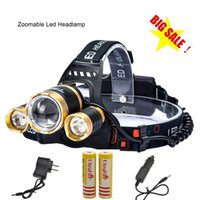 best head flashlights - Best CREE XML T6 Zoomable Headlamp Head Torch Flashlight Rechargeable Led Headlight Outdoor for Camping Battery Charger