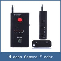 Wholesale Newest Multi Wireless Radio Wave Signal RF GSM Device Spy Pinhole Hidden Camera Lens Sensor Scanner Detector Finder CC308
