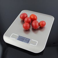Wholesale Kitchen Scale Cooking Measure Tools Stainless Steel Electronic Weight LED Platform electronic weight balance Household Scales fast shipping