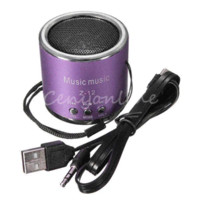 Wholesale NEW Z12 Portable Mini Cylinder Speaker Amplifier Sound Radio Music FM HIFI Support USB Micro Line in for SD TF Card MP3 Player