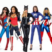 average clothing size - 9 styles adult lady halloween dress up sexy women X mas cosplay clothes captain america superman batman averages girls costume jumpers