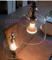 Wholesale Produzione Privata Acquatinta Pendant Lights Suspension Lamp blown glass shiny chromed metal transparent white black chrome color