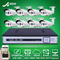 Cheap Plug And Play 8CH CCTV System POE NVR 3TB HDD Onvif 1080P HD H.264 Sony Sensor Array IR IP Camera POE Security Surveillance Kit
