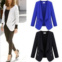 Cheap 2016 Spring Autumn Fashion Women Suit Jackets Female Elegant Slim Office Blazer Tailored Collar Neat Side Zipper