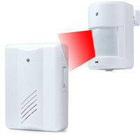 Wholesale 2016 new Infrared Sensors Wireless Doorbell M Remote Control Alarm Detector For Home Office Hotels Jewelry Store Etc