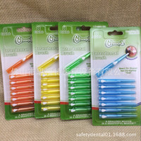 Wholesale Interdental brush pc per pack European cleanpik mm imported straight teeth brush wire brush orthodontic toothbrush dentist recommended