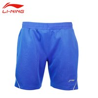 Wholesale Li Ning Men s Professional Badminton Shorts Breathable Elastic Waist Tennis Shorts Quick Dry Sports Shorts