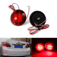 Wholesale 2Pcs Car LED Parking BrakeTail Light Round Lantern Reflectors Lamp Rear Bumper Reflector Lights for Toyota Corolla Korolla