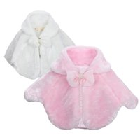 Wholesale Cheap Baby Kids Clothing Outwear Poncho Clother Girl Princess dress shawl Pink white color
