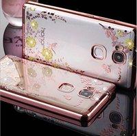 Примечание 7 Bling Алмазный гальваническим кадр Мягкий чехол для ТПУ iPhone 7 iphone7 плюс Secret Garden Flower Clear Обложка для Huawei P9 облегченной Honor 8