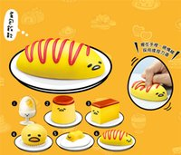 Wholesale Egg yolk pinch roll Egg Toys Vomiting comb egg lazy time lazy egg Baozi Stuffed with Creamy Custard Egg in the egg vomiting