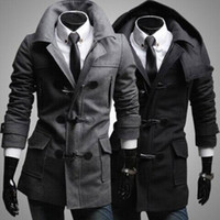 Wholesale New hot Men Coat Personality Men Slim Fit Outerwear Fashion Lapel Coat Men s Clothing