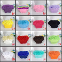 bebe lace - 16 Color Girls Short Pants Cotton Layers Chiffon Ruffled Newborn Bloomer Bebe PP Shorts Cute Baby Solid Color Shorts Kids Diaper Covers