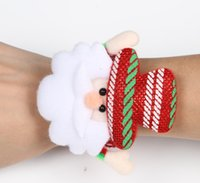 animal wrist bands - Christmas Gift Christmas clap circle Christmas snowman applauded the old man bears the deer Wrist watches band Clap Circle Wrist Ring Band
