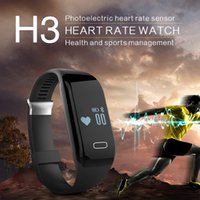 Wholesale H3 Smart Watch Fitness Activity Tracker with Heart Rate Monitor Smartband Wristband Waterproof Bluetooth Intelligent Bracelet Healthy Wr