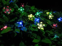Wholesale 7M LEDS Peach Flower Solar Outdoor light Led garden Super Bright Led Christmas Lighting Lamps Solar Led String Lights
