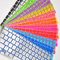 Wholesale Laptop Soft Silicone Colorful KeyBoard Case Protector Cover Skin For MacBook Pro Air Retina Waterproof Dustproof covers