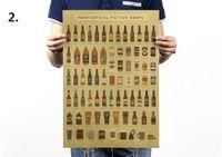 500pcs grande AK47 retro estructura mejorada / Guía de la degustación de vinos Diseño del cartel de papel 51 * 35.5cm barra de decoración de la pared Etiqueta ZA0936