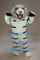 albino animals - Albino Tiger Mascot Costume Costume Hot Sale Adult Size Wild Animal Theme Mascotte Mascota Outfit Suit Fancy Dress Cosply SW1108