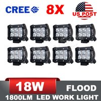 Wholesale US Stock x inch W Flood CREE LED Light Work Lamp Off Road JEEP UTE Ranger x4 Truck Fog V