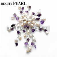 amethyst brooches jewelry - Amethyst Coral Turquoise White Freshwater Pearl Brooch for Women Pearl Jewelry Brooches Designs Wedding Bridal Anniversary Accessories