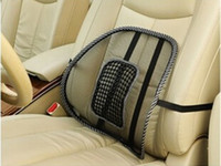 Wholesale 2015 Summer Office Chair Car Seat Cover Cool Car Massage Cushion Lumbar Back Brace Pillow New Car Styling