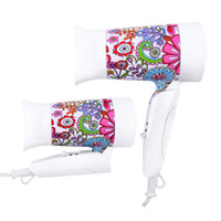 air conveniences - New European W Electric Foldable Flower Print Hair Blow Dryer Convenience For Travel And Home