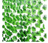 artificial grape vine garland - l94 Inches Grape Ivy Artificial Greenery Chain Plant Garland Leaves Cane Special Flower Vine Decoration For Wedding Home Indoor Garden