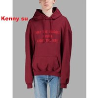 Wholesale 2016 US hip hop vetements may the bridges i burn light the way men unisex cotton hoodie pullover