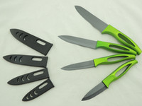 Wholesale 2016 Sharp Kitchen Ceramic knife Kits of Mysterious Black Blade and Bright Handle with Factory Price Selling