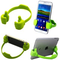 Wholesale Thumb Phone Table Mount Stand Bracket Universal Mobile Cell Phone Holder for iPhone S S plus For Samsung Smartphone Tablet