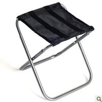 aluminium outdoor chairs - Outdoors Camping Chairs Folding Portable Aluminium Alloy Genus New Oxford Cloth Beach Travel Campstool Go Fishing Stool