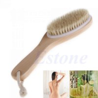 Wholesale Full Body Natural Bristle Dry Skin Exfoliation Brush Detox Fight Cellulite Tool V115 brushed gold engagement ring