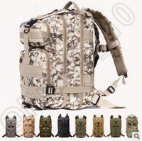 attack military - 50pcs CCA4326 High Quality L Hiking Camping Bag Military Tactical Trekking Rucksack Backpack Camouflage Molle Rucksacks Attack Backpacks