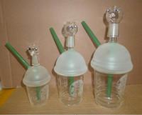 Dabuccino verre hitman Avis-Dabuccino style inspiré Starbucks Themed Concentré Coupe eaux bongs Rig hitman verre plate-forme de verre tuyaux avec la taille 10mm 14.5mm de 18.8mm