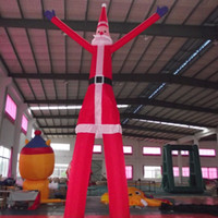 Wholesale China inflatable product factory suppier meters high santa claus air dancer Christmas decoration advertising model for sale